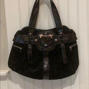 Salvatore Ferragamo suede and leather handbag